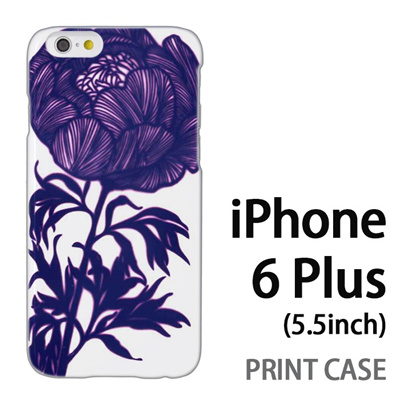iPhone6 Plus (5.5インチ) 用『0911 牡丹 白』特殊印刷ケース【 iphone6 plus iphone アイフォン アイフォン6 プラス au docomo softbank Apple ケース プリント カバー スマホケース スマホカバー 】の画像