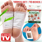 [As seen on TV]Best Selling! 100pcs for a set(10 BOXES)/ KINOKI /Kinoki Detox Foot Pads/ Foot Pad Patch/ Detoxify Patches/ Health Foot Care Pads Kinoki/[BUY 2 ONE SHIPPING FEE]