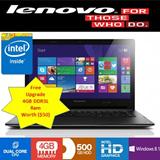 Brand New Lenovo B50-30 notebook / Intel N2840 Processor (2.16GHz) / 2GB Ram / 500 GB HDD / 15.6 inch HD LED Display / Windows 8.1