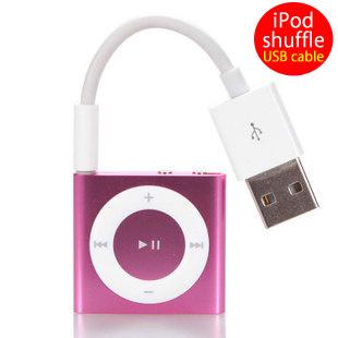 【送料無料】Apple iPod shuffle(アイポッド シャッフル) 第3世代/第4世代/第5世代/第6世代へのデータ転送や充電ができるUSB充電データ転送ミニケーブルの画像