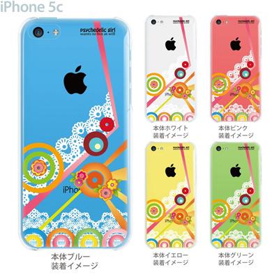 【iPhone5c】【iPhone5cケース】【iPhone5cカバー】【ケース】【カバー】【スマホケース】【クリアケース】【クリアーアーツ】【psychedelic girl】 21-ip5c-ps0004の画像
