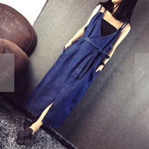 (共同購入特価) 新作 ファッション  デニムワンピース   レディース   可愛い  人気  大きいサイズ  袖なしの  ワンピース / 上質/着痩