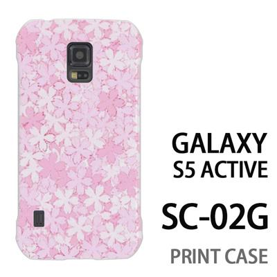 GALAXY S5 Active SC-02G 用『0311 桜模様 ピンク』特殊印刷ケース【 galaxy s5 active SC-02G sc02g SC02G galaxys5 ギャラクシー ギャラクシーs5 アクティブ docomo ケース プリント カバー スマホケース スマホカバー】の画像