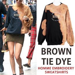 《送料無料》人気爆発!♠KIRANG製作記念特価♠ [UNISEX] BIGBANG SOL(taeyang)st.Kendall Jenner st.ブラウンhomme刺繍スウェットシャツ
