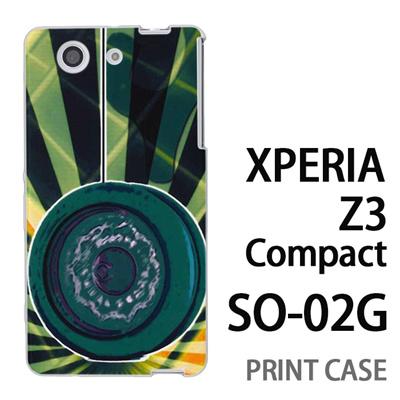 XPERIA Z3 Compact SO-02G 用『No1 Y_ヨーヨー 緑』特殊印刷ケース【 xperia z3 compact so-02g so02g SO02G xperiaz3 エクスペリア エクスペリアz3 コンパクト docomo ケース プリント カバー スマホケース スマホカバー】の画像