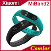 [Super Sale] 2016 Newest Original Xiaomi Mi Band 2 MiBand2 MiBand Smart Wristband Bracelet Miband 2 Heart Rate Monitor OLED display To Remind Bluetooth Call Phone XMAC