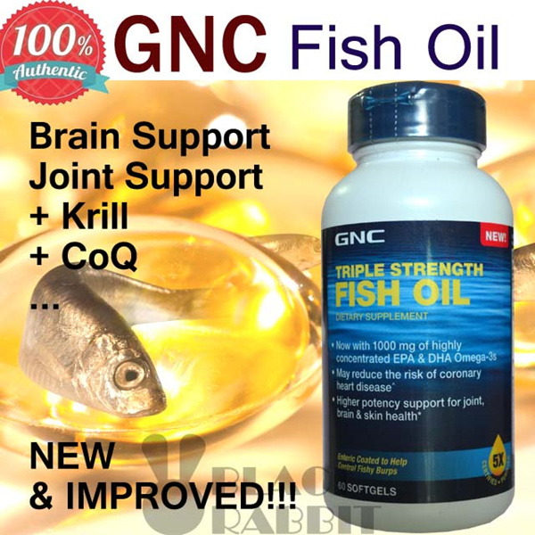 Buy gnc triple strength fish oil 60 sg 120 sg co q fish for Fish oil for joints
