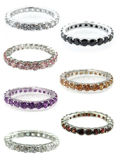 【送料無料】美しすぎるCZダイヤモンド!新作フルエタニティリング。お買い得激安SALE価格!!プレゼント/贈り物にも/指輪/クリスマス/バレンタイン/記念日/ご褒美/ピンキーの画像