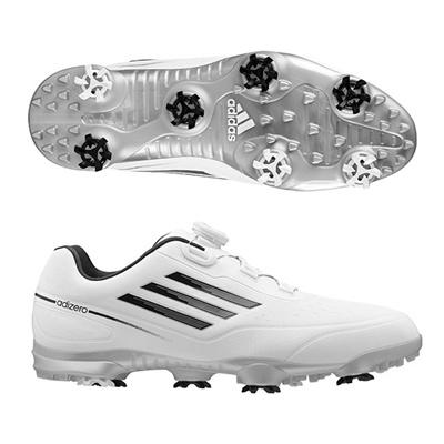 アディダス (adidas) adizero prime Boa WD(ホワイト×ブラック) Q44717 [分類:ゴルフシューズ スパイク (メンズ)] 送料無料の画像