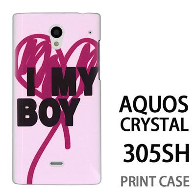 AQUOS CRYSTAL 305SH 用『0116 アイマイボーイ ピンク』特殊印刷ケース【 aquos crystal 305sh アクオス クリスタル アクオスクリスタル softbank ケース プリント カバー スマホケース スマホカバー 】の画像