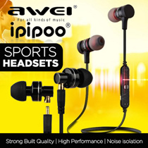 Price Reduced Sales!*Quality assured!*Bluetooth Wireless sports earphones AWEI A920BL A921BL REMAX S2 S5 S8 iPiPOO wired A500Hi DC2Hi Superbass stereo clarity Mic Volume Control for calls Music