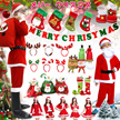 Merry christmasクリスマス コレクション サンタコスチューム コスブレ 衣装 仮装 上下セット 帽子 靴下 セクシー クリスマスイブ トナカイ サンタクロース 大人 子供服 クリスマスギフト プレゼント 親子お揃い