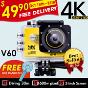 ◎FREE DELIVERY!FREE GIFT!◎4K WiFi V60 Action Camera Waterproof Car Camera◎Best Seller In SG