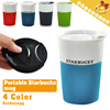 ▶237ml(8 fl oz) VIA Ceramic Coffee Cup with Lid◀GDA-Heat Insulated and Anti-slip with silica gel/ Unique Slide Cover n Practical Designed Mug/ Water bottle-4 colors