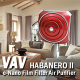 VAV Habanero II (Air Purifier/e-Nano Film Filter/Patented Technology/Air Circulator/Fan/Haze/Mask/CE/KC/Korea)