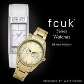 [Best Price Guarantee] Fcuk Ladies below $100 Watches Promotions [WatchesZon]
