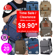 ★Backpacks Backpack Bag★[SG Seller] Unisex Backpack Men Bags Korean Style Fashion Laptop Bag