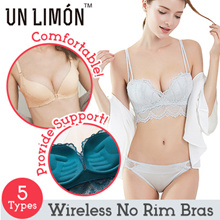 UNLIMON Women Wireless Bras Sexy No Rims 13 Colors One-piece Seamless Push-up ABC Cups