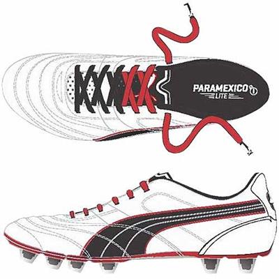 ◆即納◆プーマ(PUMA) パラメヒコ ライト 13 HG 103076 05 ホワイト パール/ブラック/ハイ リスク レッド 【サッカー スパイク シューズ】の画像