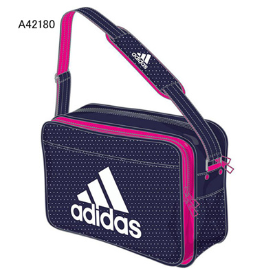 アディダス (adidas) エナメルショルダー L(ナイトスカイ×ソーラーピンク×ホワイト) Z7679-A42180 [分類:エナメルバッグ (大型)] 送料無料の画像