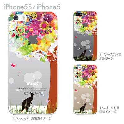 【iPhone5S】【iPhone5】【iPhone5sケース】【iPhone5ケース】【カバー】【スマホケース】【クリアケース】【フラワー】【花とカンガルー】 22-ip5s-ca0088の画像