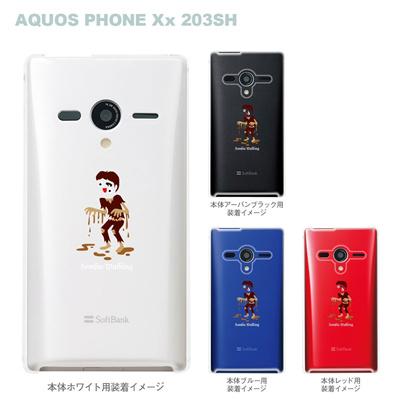 【AQUOS PHONEケース】【203SH】【Soft Bank】【カバー】【スマホケース】【クリアケース】【MOVIE PARODY】【ユニーク】【ゾンビ】 10-203sh-ca0035の画像