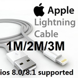 IOS 8.0 / IOS 8.1 Supported 8-pin 1m/2m/3m Apple Lightning to USB Cable iPhone 6 Plus iPhone 6+ iPhone 6 iPhone 5S/5C/5 iPad Air iPad Compatible with ALL Models Charging and Data Cable.