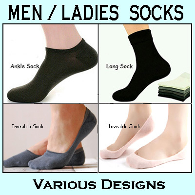 ?Buy 6 Get 1 Free? Men / Ladies Sock / Bamboo / Cotton / Aloe / Invisible Boat Ankle Long Sock Deals for only S$3.9 instead of S$0