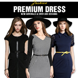 European Style Print Dress/Sleeveless Dress/ Striped Dress Sexy Package Hip Dress
