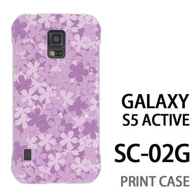 GALAXY S5 Active SC-02G 用『0311 桜模様 紫』特殊印刷ケース【 galaxy s5 active SC-02G sc02g SC02G galaxys5 ギャラクシー ギャラクシーs5 アクティブ docomo ケース プリント カバー スマホケース スマホカバー】の画像