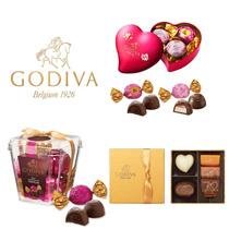 ★GODIVA  3種から選べる♪①ラッピングチョコレート ミニハート缶 5粒②ゴールド コレクション 5粒 ③ラッピングチョコレート トリュフ ミルク 5粒
