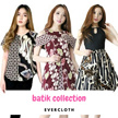 [25 SEPT] BATIK DRESS BLOUSE CHEONGSAM  CULLOTE - Pastel n Bright Colors - Gaun Batik  Modern