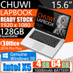 CHUWI LapBook 15.6 Inch Windows 10 Intel Cherry Trail X5 Quad-core 4GB 64GB NetBook PC 10000mAh Battery WiFi BT HDMI 128GB Expandable