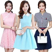 19/10 NEW】Korean dresses/Occupation/Casual/chiffon/lace/suit/Office/Leisure/Bridesmaid/Short
