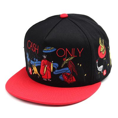 韓国のファッションのスナップバックHwatoo/100%実物写真/セレブが愛用する大人気のキャップ/ bigbang/G-Dragon/hiphop/帽子ヒップホップ帽平に沿ってhiphopヒップホップの帽子スタッズ付きの画像