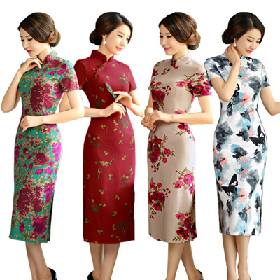 Buy Best Quality Best Seller CNY Cheongsam Qipao Natural Silk ...