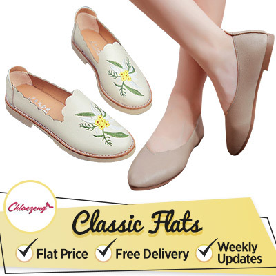 ONE PRICE BUY ONE FREE SHIPPING[Size(35-42)]LADY FLATS Shoes Flat sandals?Women Sandals Deals for only S$49.9 instead of S$0