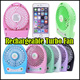 New Arrival Strong Mini Fan With Rechargeable Battery And USB Charging Cable Portable Fan 3 Positions Strong Wind Electric Fan 6 Colors
