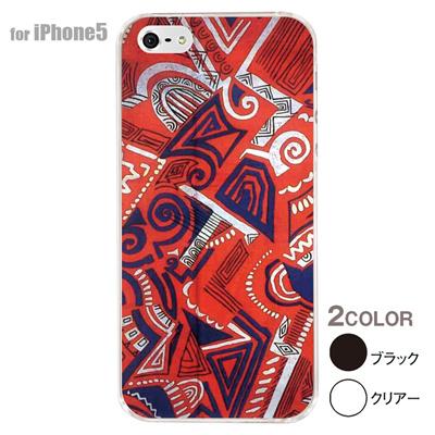 【iPhone5S】【iPhone5】【アルリカン】【iPhone5ケース】【カバー】【スマホケース】【クリアケース】【その他】【アフリカン テキスタイルパターン】 01-ip5-con057の画像