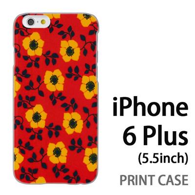 iPhone6 Plus (5.5インチ) 用『0913 花オレンジ』特殊印刷ケース【 iphone6 plus iphone アイフォン アイフォン6 プラス au docomo softbank Apple ケース プリント カバー スマホケース スマホカバー 】の画像