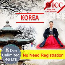 ◆ ICC◆【Korea Sim Card 5/6/8/12 Days】4GLTE+Unlimited data❤ Unlimited data+Call*(C)❤Unlimited 4G(5Days