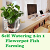 2-In-1 Self-Watering Planter and Fish Tank/ Vertical Wall Garden Planter 7 Pockets/ Plant Pocket / Self Watering 2-in 1 Flowerpot Fish Farming/Plant Pot