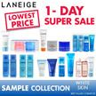 LOWEST PRICE [Laneige] water bank line Sample kit/Water Sleeping Mask/Essence/Trial kit . innisfree