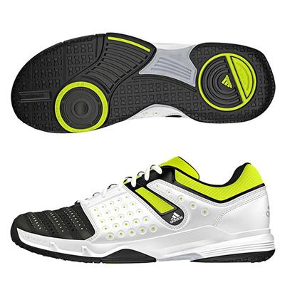 アディダス (adidas) Court Stabil 12(コアブラック×シルバーメット×ソーラーイエロー) B33027 [分類:ハンドボール ハンドボールシューズ] 送料無料の画像