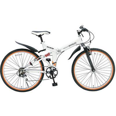 【クリックでお店のこの商品のページへ】マイパラス 26インチ 折畳ATB自転車 6SP・Wサス ホワイト M-670-WH