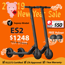🍊CNY SALE🍊Segway ES2 Escooter (1 PAIRS)✦LTA Approved ✅✦💯OFFICIAL DISTRIBUTOR✦UL2272 Certified ✅