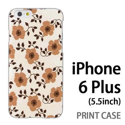 iPhone6 Plus (5.5インチ) 用『0913 花ベージュ』特殊印刷ケース【 iphone6 plus iphone アイフォン アイフォン6 プラス au docomo softbank Apple ケース プリント カバー スマホケース スマホカバー 】の画像