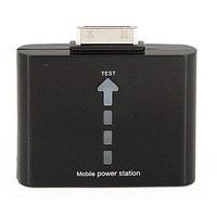 【クリックで詳細表示】iPhone3/4 iPod 対応 バッテリー外部充電器1000mAh 【管理番号:W-33】色(黒)