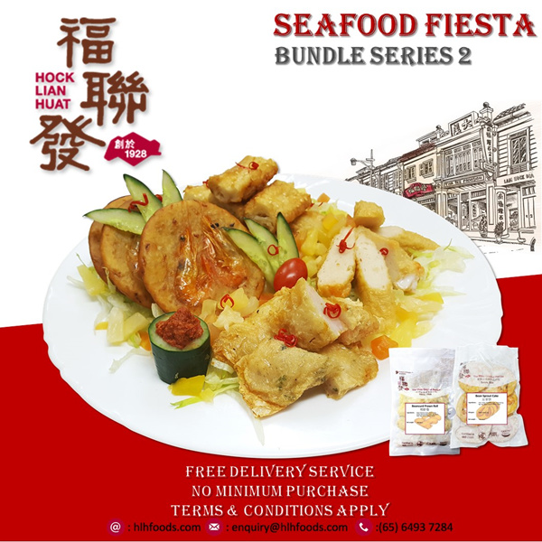 [FREE DELIVERY] NEW PRODUCT!! SG Heritage Brand: READY TO EAT BUNDLES 2 SEAFOOD FIESTA Deals for only S$18.6 instead of S$0