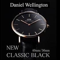 Daniel Wellington/ダニエルウェリントン CLASSIC BLACK 36㎜/40㎜出会う人すべての視線を釘づけにする、時を超えたエレガンスを放つウォッチ【並行輸入品】